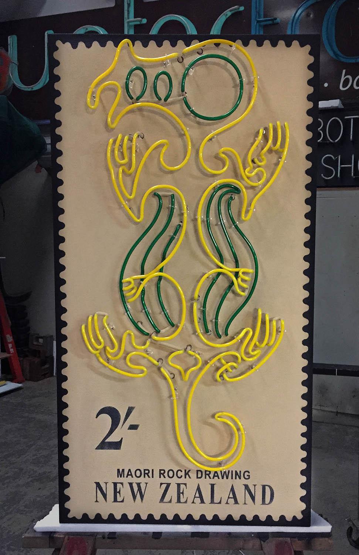 Maori Rock Drawing - Stamp Design